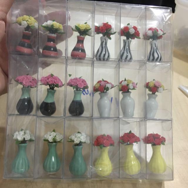 Handmade Miniature Flowers On Vase @ $7 Each