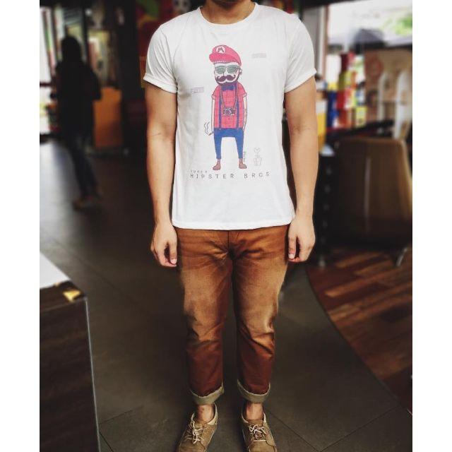 Cool Hipster Super Mario unisex tshirt