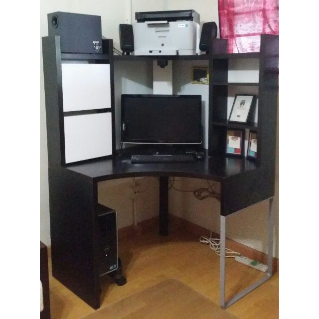 low priced 9c76c baf0f Moving Out Sale] Ikea MICKE Corner Workstation, Furniture on ...