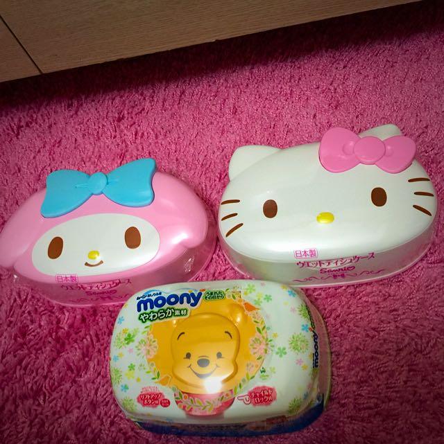 Kitty、美樂蒂、小熊維尼濕紙巾