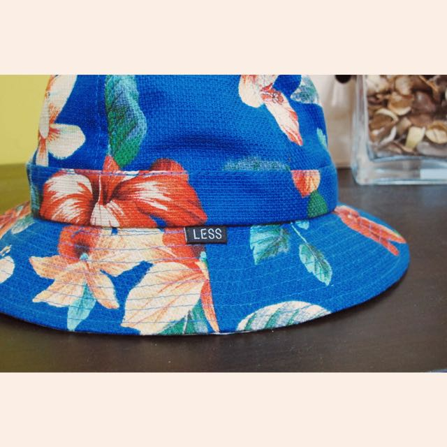 Less藍花雙面漁夫帽🌺Less Flower Pattern Military Hat