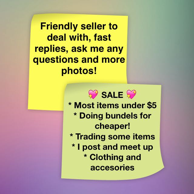 MANY $5 AND UNDER ITEMS CLOTHING AND ACCESSORY SALE