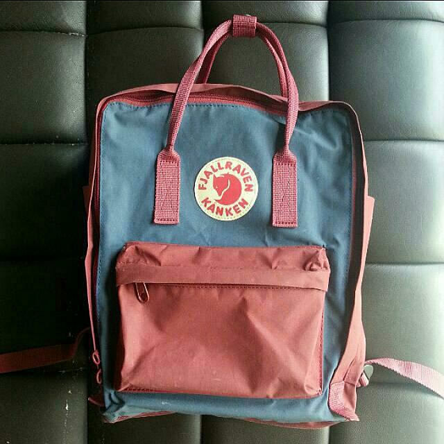 (PRICE REDUCED) Royal Blue x Ox Red Authentic Kanken