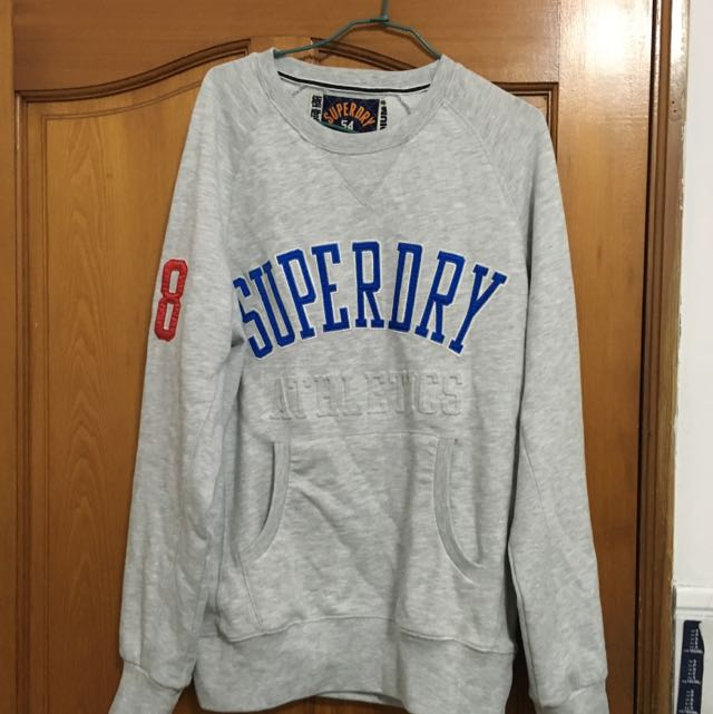 Superdry淺灰衛衣