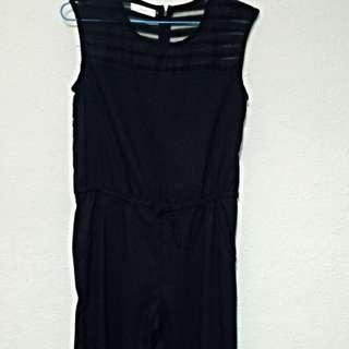 Black Stripes Long Pants Jumper
