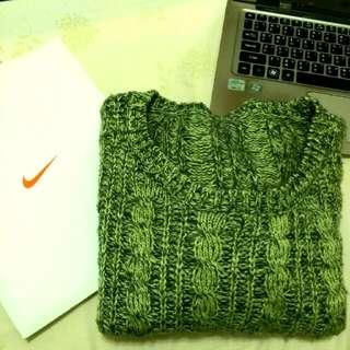 ✨混織綠色毛衣