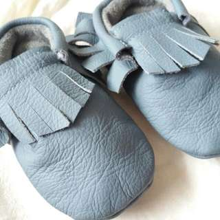 """Hubble and Duke """"Autumn Blue"""" moccasins. Worn a handful of times. Comes in original dust bag."""