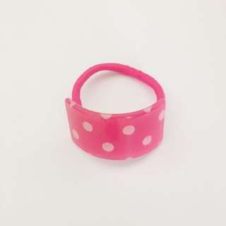 Pink Dots Hair Tie