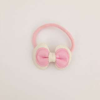 Pink Bow Hair Tie