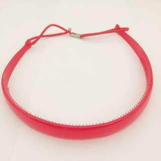 Red Headband With Elastic