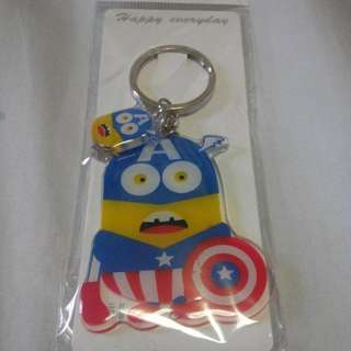 Minions Captain America Keychain