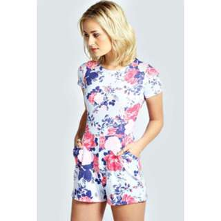 Boohoo Floral Playsuit