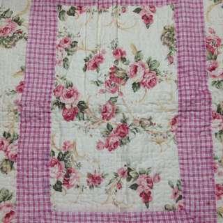 玫瑰花拼布床罩