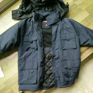 Small Navy Blue Cold Weather Jacket For Teens/Kids