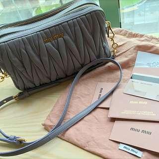 d9fe52262b17 Miu Miu Matelassé Nappa Leather Mini Bag (MOVE OUT RUSH)