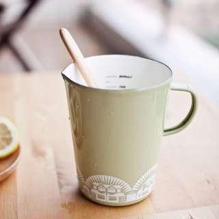 Zakka刻度量杯 琺瑯馬克杯