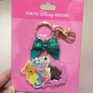 日本迪士尼樂園 Disney 小比目魚 鏡子吊飾 美人魚