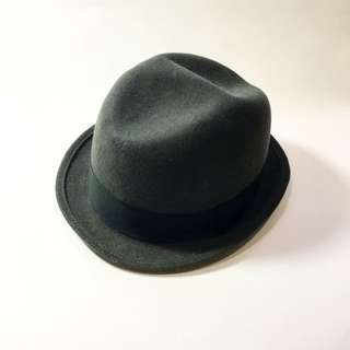 New York 墨綠色經典紳士帽 正品