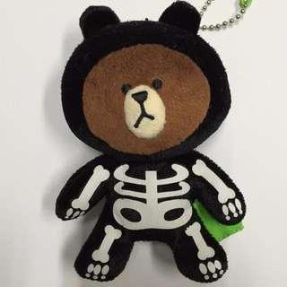 LINE 熊大娃娃吊飾