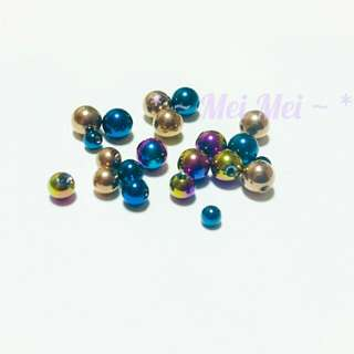 啞鈴耳釘 鋼球 備用鋼球 醫療鋼 鈦鋼 耳針 耳環  單顆價