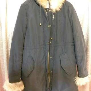 日本BLISS POINT軍裝連帽毛毛鋪棉外套