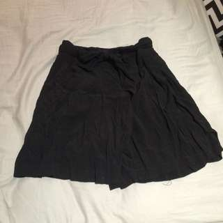 Black Crinkled Look Shorts SALE