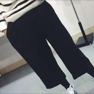 (皆保留中)冬天材質 黑/灰 寬褲