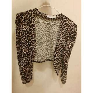 豹紋短版外套