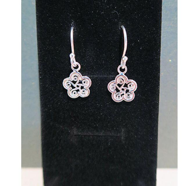925純銀花朵造型耳環