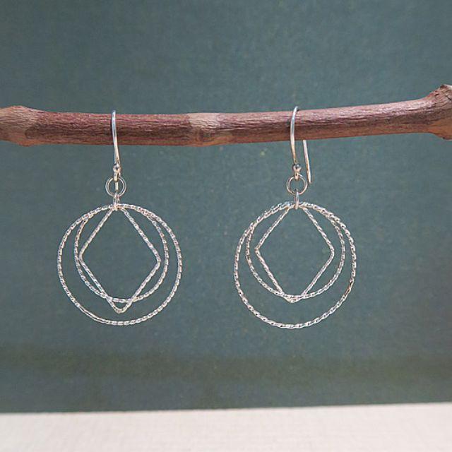 925純銀造型垂墜式耳環