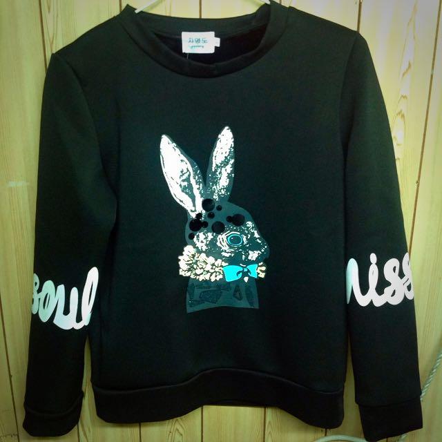 黑兔子韓國短版上衣