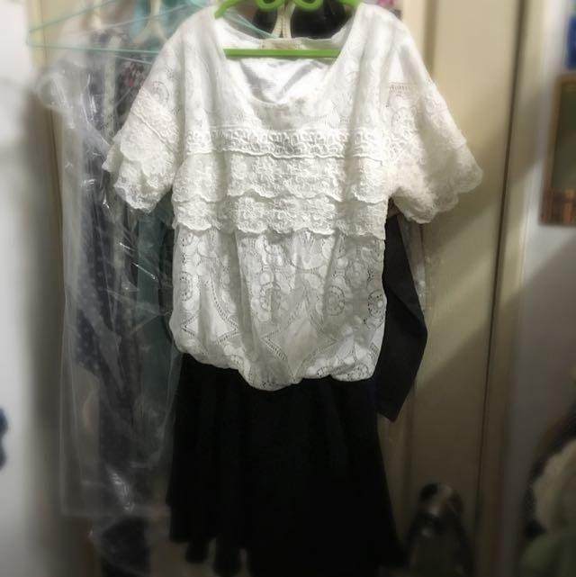 蕾絲短洋裝
