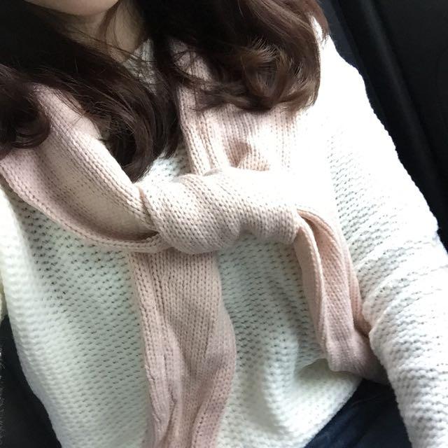 假兩件針織毛衣+批肩