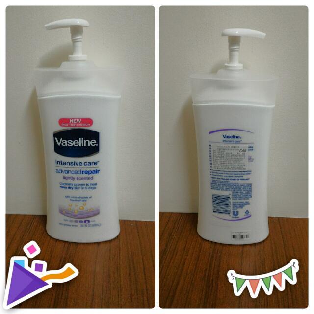 (保留中)(含運)凡士林深層修護保濕潤膚乳液