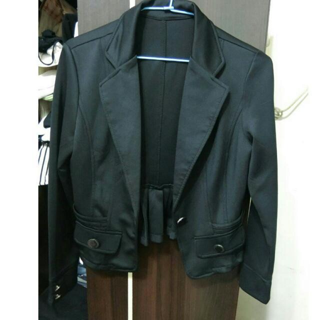 緞面材質西裝外套