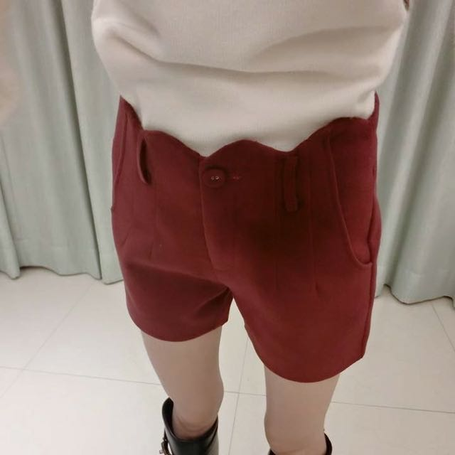 💕(含運)厚實毛料靴褲