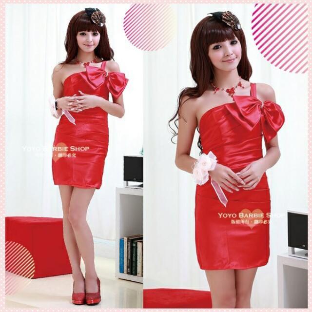 全新紅色小禮服