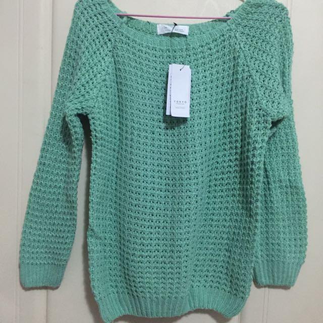 東京著衣 綠色針織