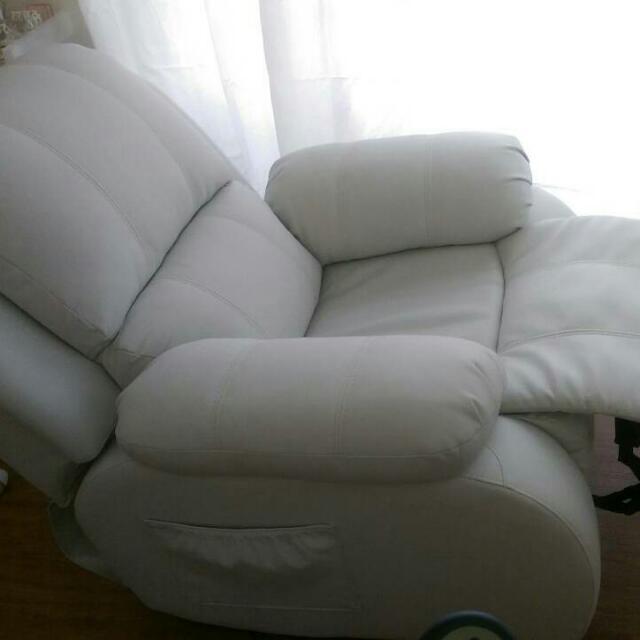 二手皮質【電動單人沙發】美睫床美容床