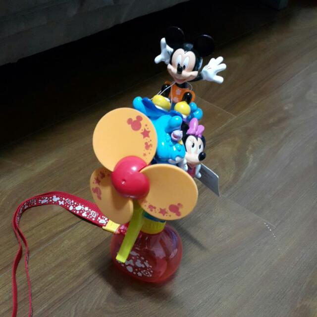 全新 香港迪士尼購買 米奇米妮噴水風扇
