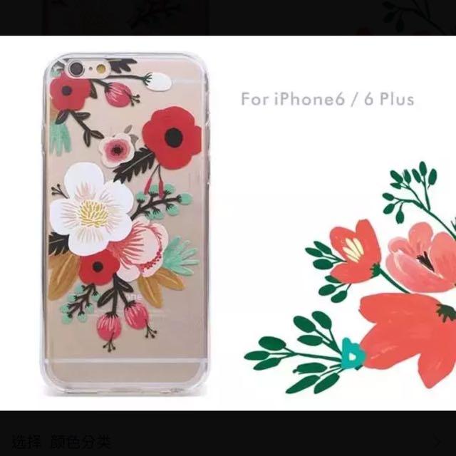 元気集® [文藝復興風] iphone6/6s 水彩花朵 TPU 手機軟殻$270