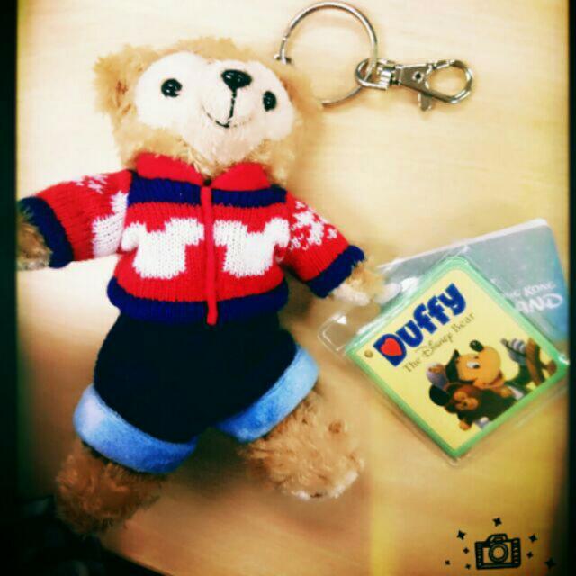 香港迪士尼帶回✈米奇毛衣達菲 Duffy 鑰匙圈