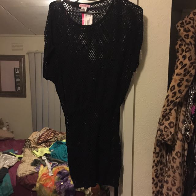 Black Crochet Oversized Dress Never Worn Stil W Tags New Condition Size Xxs Suit 8 To 10 Pick Up Frankston Or Postage $6