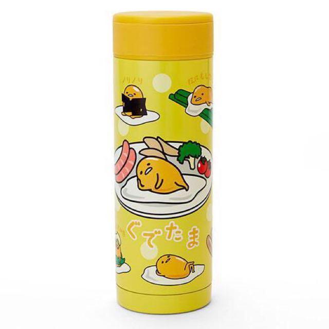 Coco馬日本代購~日本三麗鷗~蛋黃哥 慵懶蛋 料理圖案 真空不鏽鋼 保溫瓶 保溫杯 隨身瓶 350ml