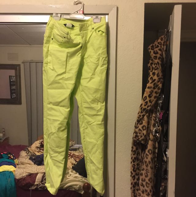 Fluro Yellow Jeans Worn Once Great Condition Size 12 Would Fit 10 Pick Up Frankston Or Postage $10