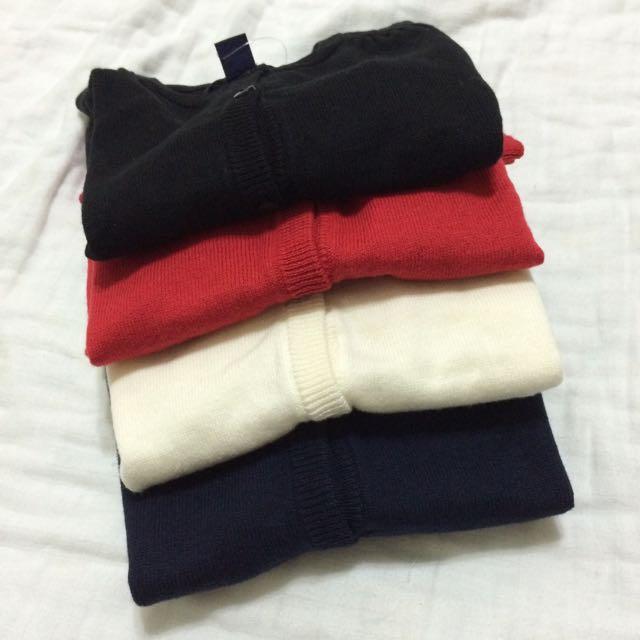 深藍色gap針織外套