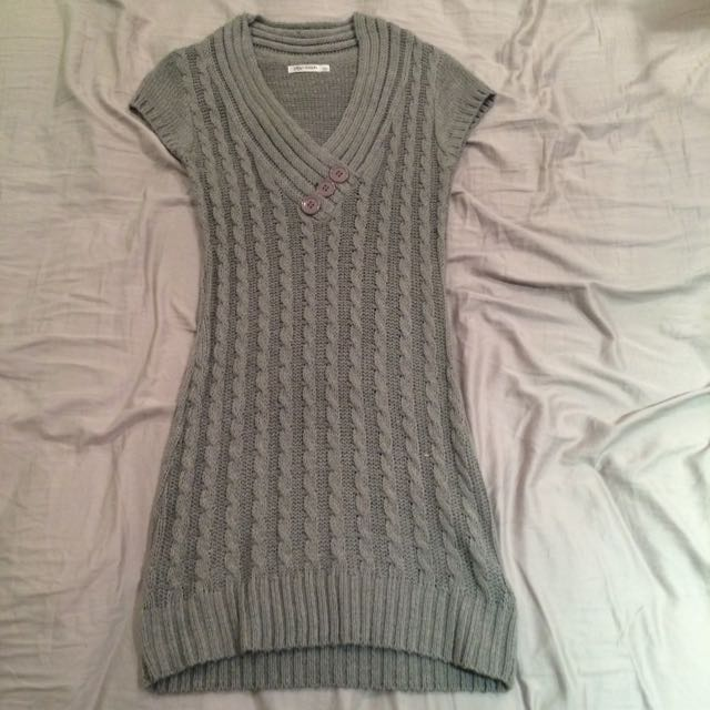 Grey Knitted Dress SALE