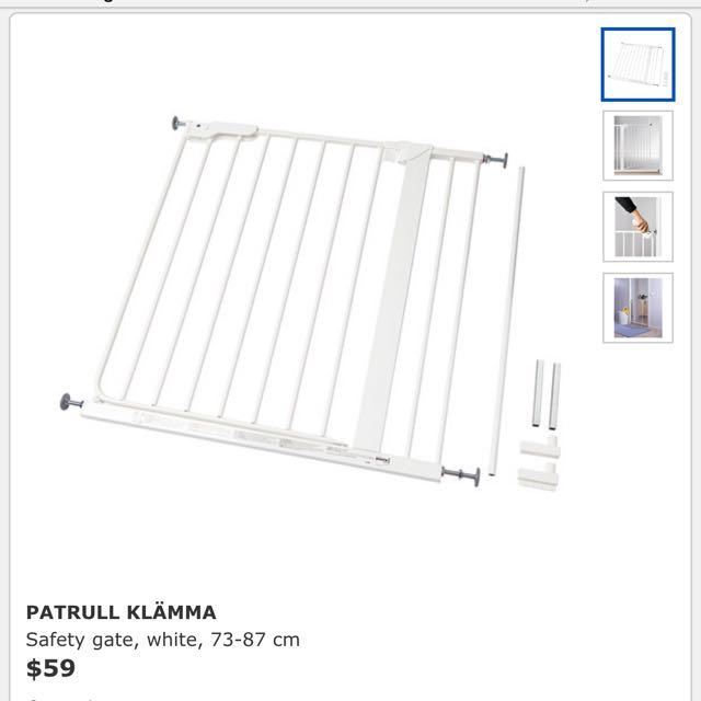 Ikea Patrull Klamma Safety Gate Babies Kids On Carousell