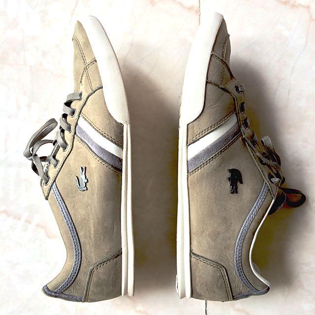 29f9f1c0019575 ⭐ (SOLD)⭐️Lacoste Men s Sneakers Matt Green W Grey White Strips ...