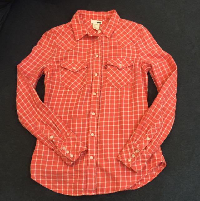 LEVI'S橘色襯衫